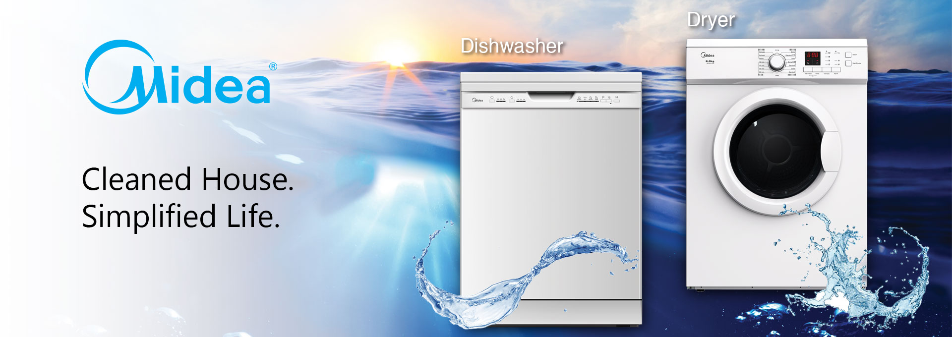 Midea Washing Machine and Dishwasher